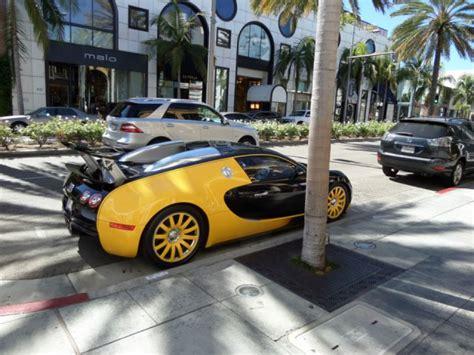 Bugatti In De Schaduw Van Een Palm, Rodeo Drive