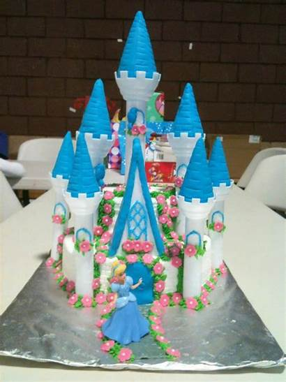 Castle Cake Cinderella Birthday Cakes Decoration Happy