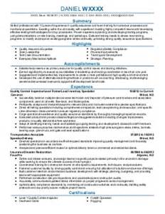 quality control resume sainde org