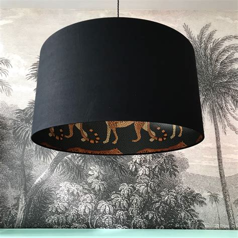 leopard walk cole son lampshade  jet black love frankie