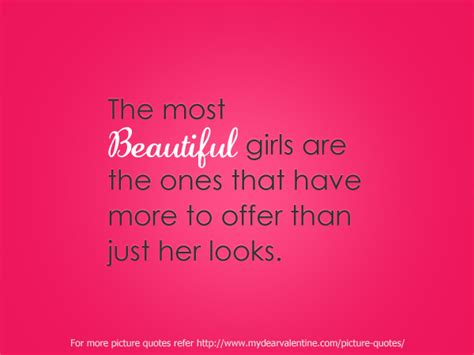 the most beautiful girl quotes