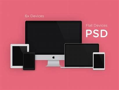 Mockup Psd Flat Devices Mockups Template Device
