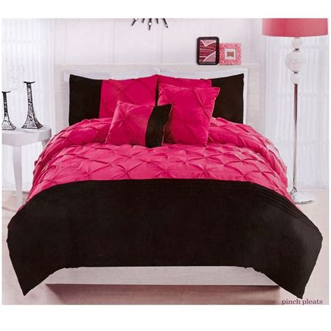 Burlington Coat Factory Bedding by 4pc Comforter Set Pink And Black