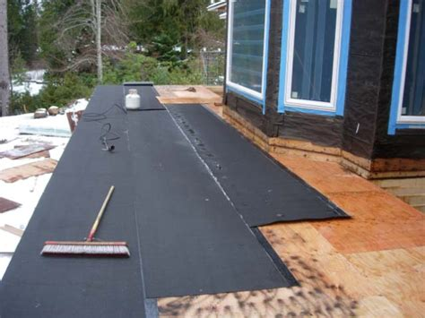 Torch On Roof Membrane On Deck  Roofingsiding  Diy Home