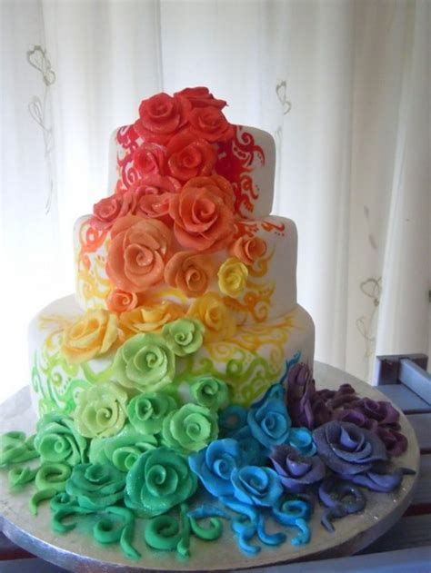 Rainbow Wedding Cakes 14 Pic ~ Awesome Pictures