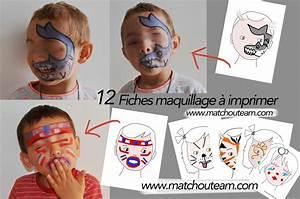 Modele Maquillage Carnaval Facile : modele maquillage a imprimer ~ Melissatoandfro.com Idées de Décoration