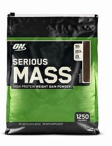 Optimum Nutrition Serious Mass Weight Gainer Protein Powder Chocolate 12 Lb New