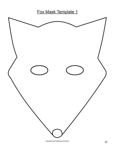 Template Of A Fox by Fox Mask Template Image Collections Template Design Ideas