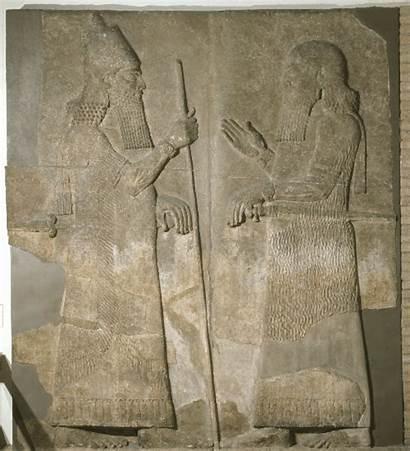Relief Digital Assyrian Palace Khorsabad Sargon Figure