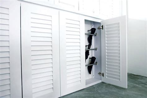 louvered kitchen cabinet doors shoe storage the right way home decor singapore 7182