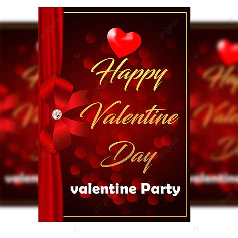 happy valentine day party poster template psd  vector