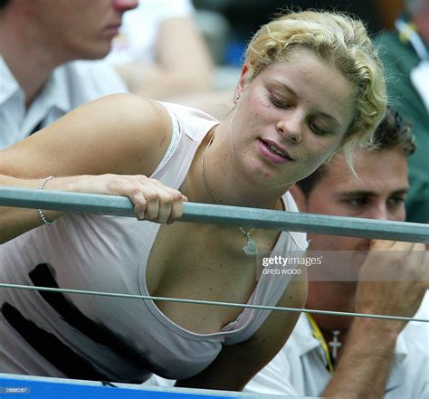 World Number Two Kim Clijsters Of Belgium Looks Over The
