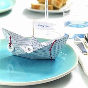 Maritime Möbel Blau Weiß : maritime tischdeko ideen in blau wei papierboot tischdeko ideen und maritim ~ Bigdaddyawards.com Haus und Dekorationen