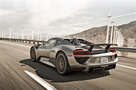 porsche back 2015 porsche 918 spyder rear three quarter in motion photo 4