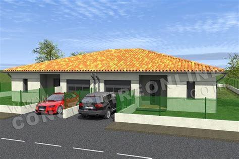 prix maison plain pied 4 chambres plan de maison moderne duo
