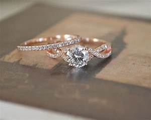 oh my beautiful twist engagement ring setting rose gold With infinity wedding band and engagement ring