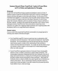Examples Of Memorandum Free 9 Research Memo Examples Samples In Pdf Doc