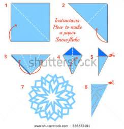 instructions how to make paper snowflake tutorial christmas snowflake step by step vector