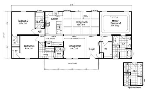 View The Sparta floor plan for a 1725 Sq Ft Palm Harbor