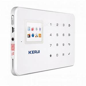 kerui g18 17quot tft touch gsm alarm wireless home burglar With touch alarm system