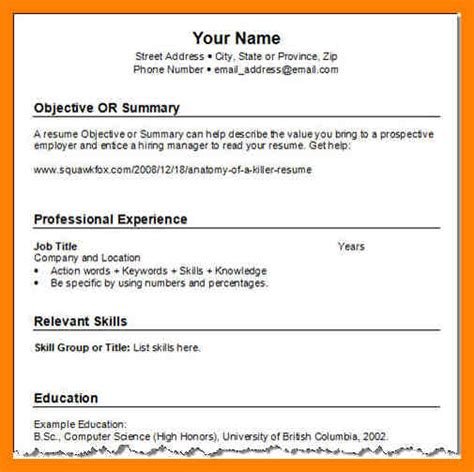 Easy Resume Writing by 9 Resume Exle Writing A Memo