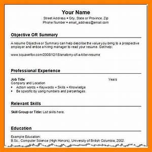 9 short resume example
