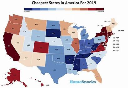 Expensive Cheapest States America Cost Living Places