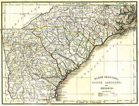 south nc nc maps