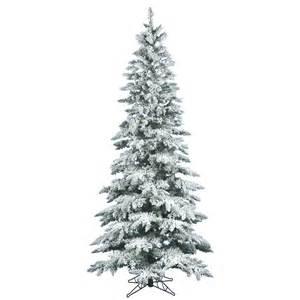 6 Ft Slim Flocked Christmas Tree by 6 5 Foot Slim Flocked Utica Fir Christmas Tree Unlit