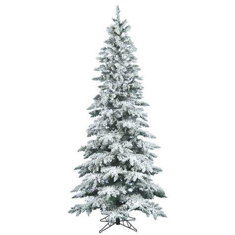 6 5 foot slim flocked utica fir tree unlit a895065