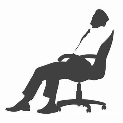Silla Ejecutivo Cansado Transparent Cadeira Executivo Vexels