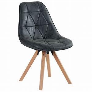 Chaise Noire Design : chaise yate tissus pieds bois tendance meubles bois deco cambresis ~ Teatrodelosmanantiales.com Idées de Décoration