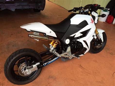 2015 Honda Grom 125cc Himalaya White 3k Upgrades Composimo