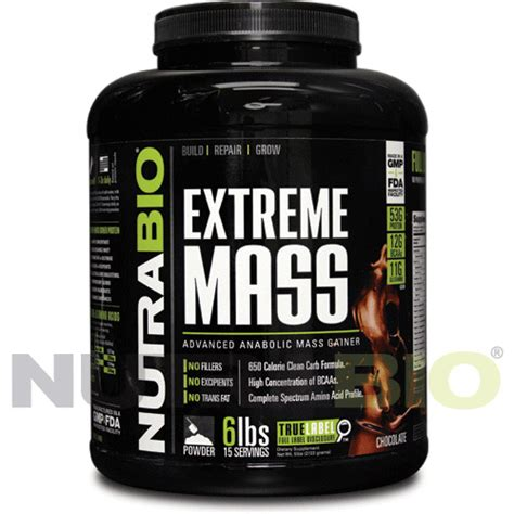 NutraBio Extreme Lean Mass Gainer High Protein Chocolate 6