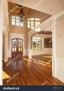 Model Luxury Home Interior Front Entrance Stock Photo ...