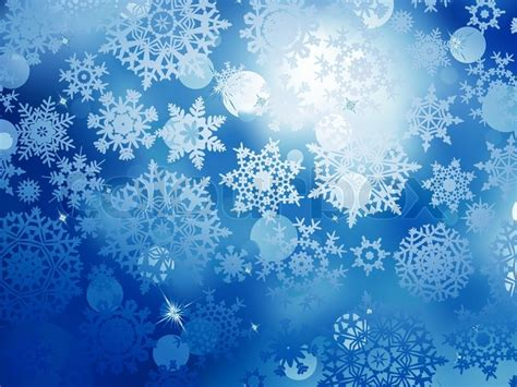Blue Snowflake Background by Blue Flowers Free Wallpaper