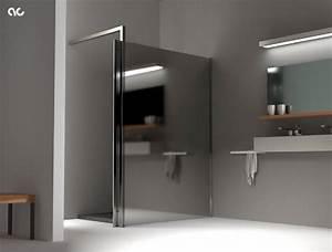 Miroir De Douche : paroi de douche en miroir assure un luxe discret ~ Nature-et-papiers.com Idées de Décoration