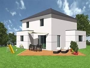 Façade Maison Moderne : maison contemporaine laureen neology ~ Melissatoandfro.com Idées de Décoration