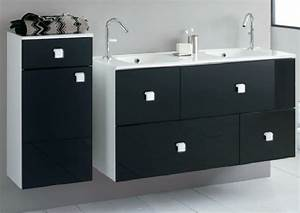 meuble de salle de bain noir et blanc photo 2 15 joli With meuble de salle de bain cedeo