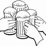 Beer Coloring Drawing Mug Cheers Draw Printable Getcolorings Getdrawings sketch template