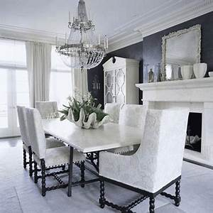 Great Art Decoration: Black and White Dining room design