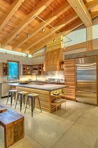 Vaulted ceiling lighting ideas modern kitchen