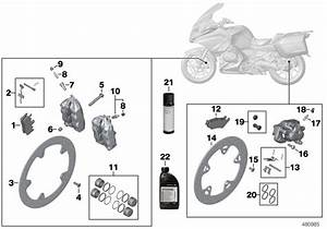 2016 Bmw R1200rt Set Of Brake Pads  Sintered Metal