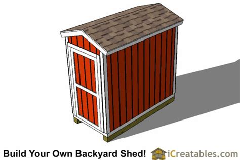 4x8 Metal Storage Shed by 4x8 Backyard Shed Plans Icreatables