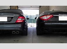 Mercedes C63 AMG vs Maserati Granturismo S Sounds Engine