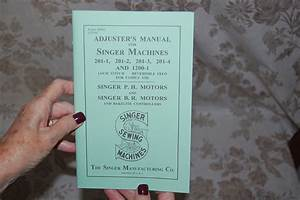 Adjusters Timing  U0026 Adjusting Service Manual For Singer 201