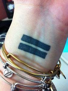 Very cool equality tattoo. | Tattoos | Pinterest