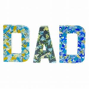 large paper mache letters dad fathers day from crafty With papier mache alphabet letters