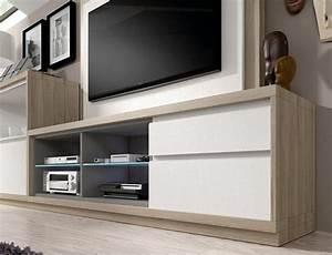 Moderne Tv Möbel : moderne holz tv m bel mit wei en fronten stube pinterest ~ Orissabook.com Haus und Dekorationen