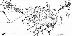 Honda Atv 2003 Oem Parts Diagram For Front Crankcase Cover